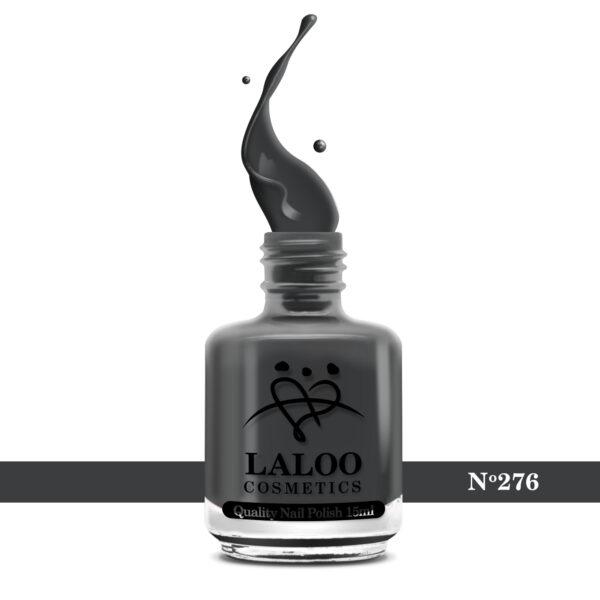 Απλό βερνίκι Laloo Cosmetics 15ml - N.276 Γκρι σκούρο ανθρακί
