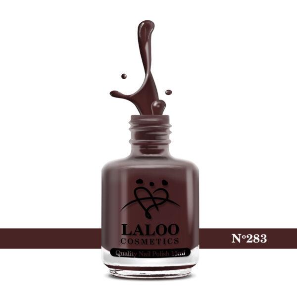 Απλό βερνίκι Laloo Cosmetics 15ml - N.283 Μπορντώ καφέ