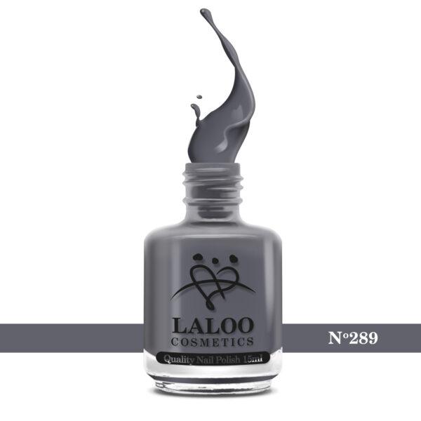 Απλό βερνίκι Laloo Cosmetics 15ml - N.289 Γκρι σκούρο της ασφάλτου