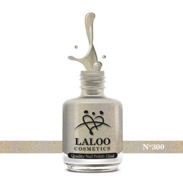 Απλό βερνίκι Laloo Cosmetics 15ml - N.300 Light gold (glitter ψιλόκοκκο)