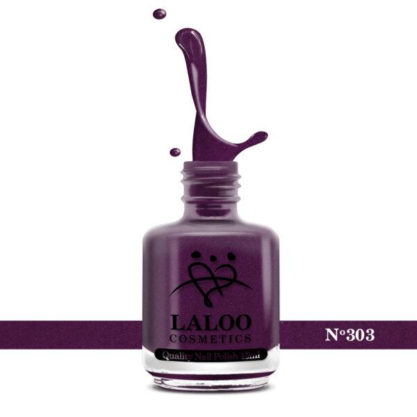 Απλό βερνίκι Laloo Cosmetics 15ml - N.303 Μελιτζανί σκούρο ελαφρύ shimmer
