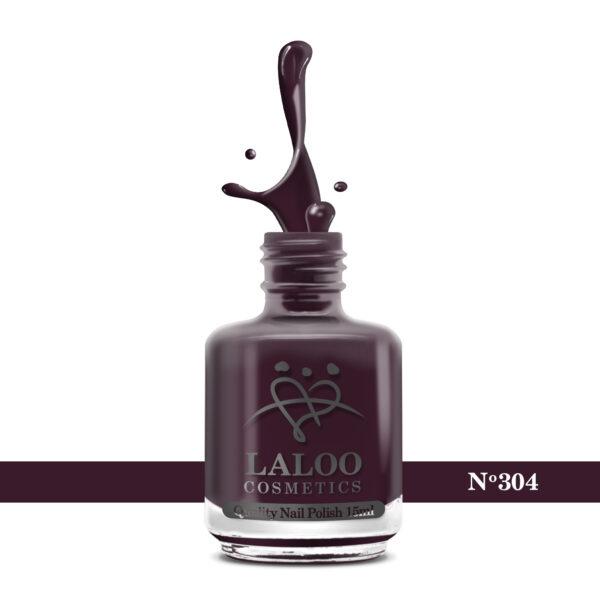 Απλό βερνίκι Laloo Cosmetics 15ml - N.304 Μελιτζανί μπορντώ
