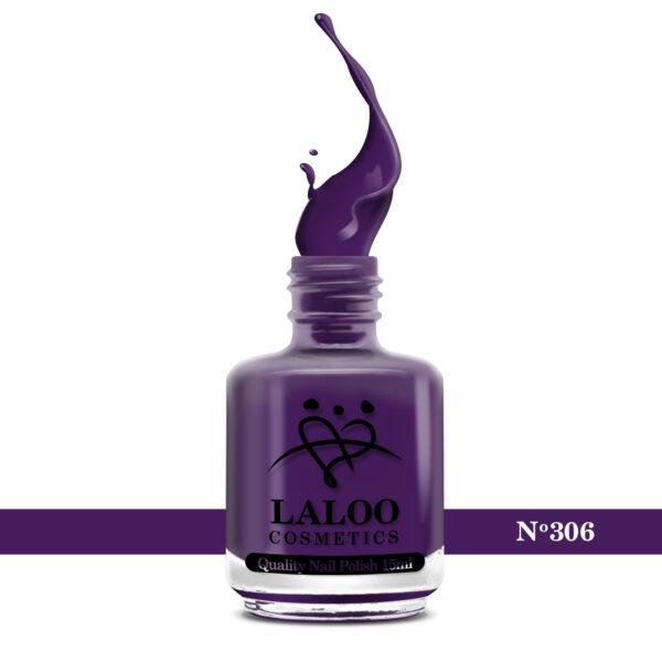 Απλό βερνίκι Laloo Cosmetics 15ml - N.306 Μωβ σκούρο