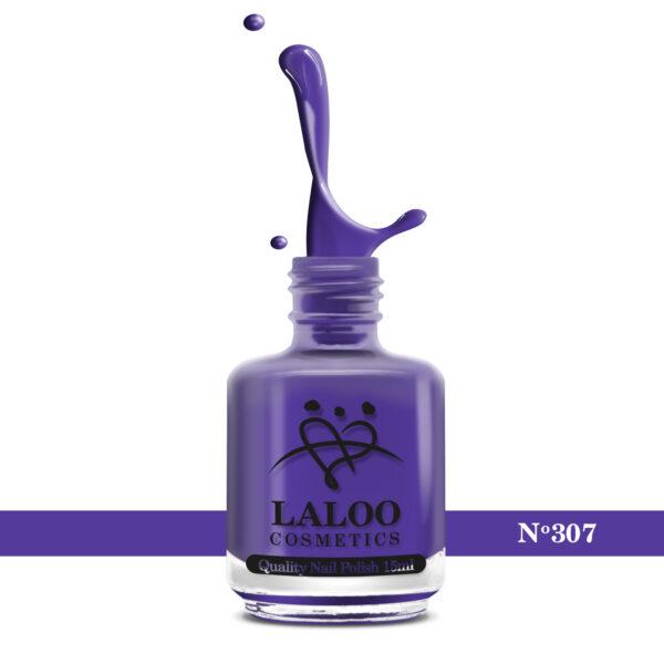 Απλό βερνίκι Laloo Cosmetics 15ml - N.307 Μωβ