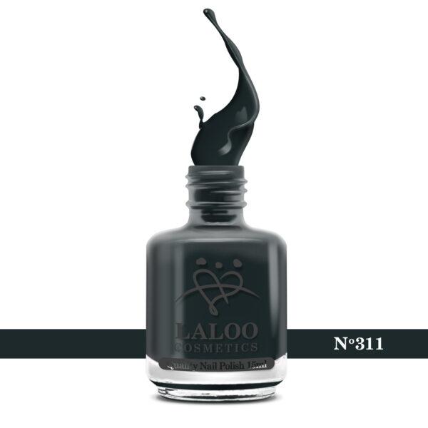 Απλό βερνίκι Laloo Cosmetics 15ml - N.311 Πετρόλ σκούρο