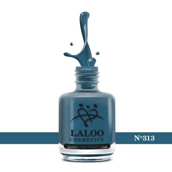 Απλό βερνίκι Laloo Cosmetics 15ml - N.313 Πετρόλ μπλε