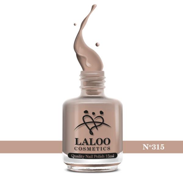 Απλό βερνίκι Laloo Cosmetics 15ml - N.315 Nude μπεζ