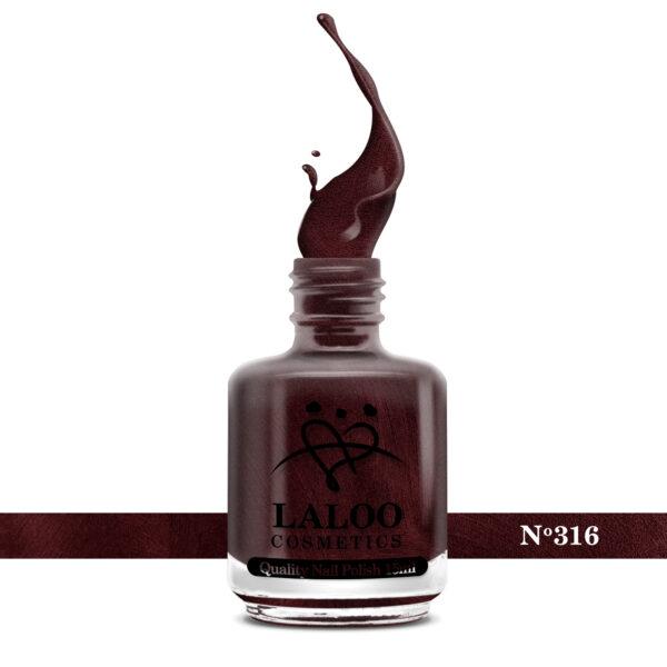 Απλό βερνίκι Laloo Cosmetics 15ml - N.316 Μπορντώ μεταλλικό