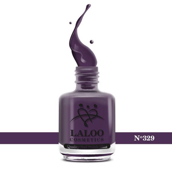 Απλό βερνίκι Laloo Cosmetics 15ml - N.329 Μωβ ψυχρό σκούρο