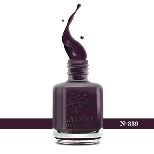 Απλό βερνίκι Laloo Cosmetics 15ml - N.339 Μελιτζανί πολύ σκούρο