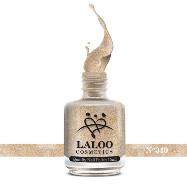 Απλό βερνίκι Laloo Cosmetics 15ml - N.340 Bronze Χρυσό με ψιλό glitter