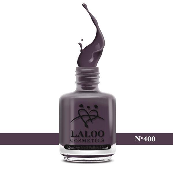 Απλό βερνίκι Laloo Cosmetics 15ml - N.400 Μελιτζανί που ελαφρώς καφετίζει