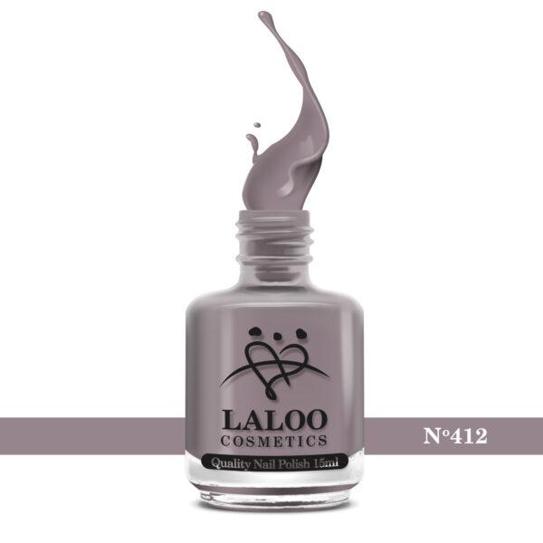Απλό βερνίκι Laloo Cosmetics 15ml - N.412 Μόκα (καφέ-μπεζ)
