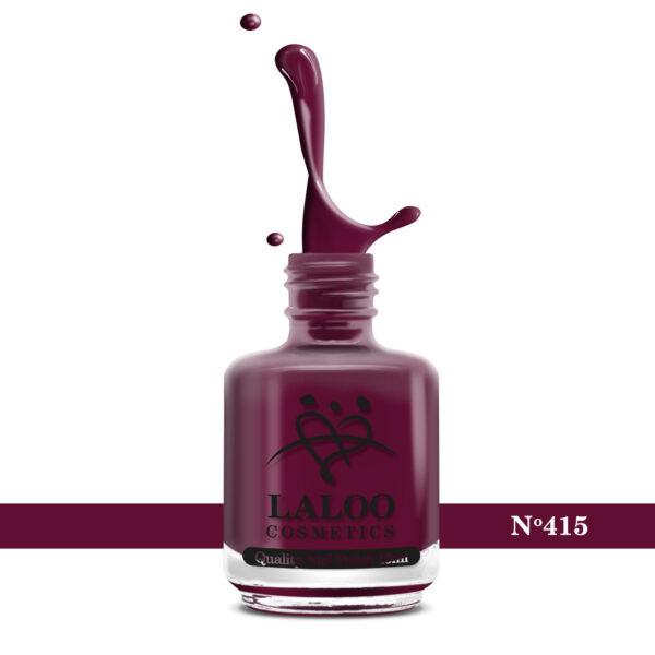 Απλό βερνίκι Laloo Cosmetics 15ml - N.415 Κόκκινο καφέ (κεραμιδί σκούρο)