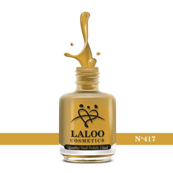 Απλό βερνίκι Laloo Cosmetics 15ml - N.417 Μουσταρδί