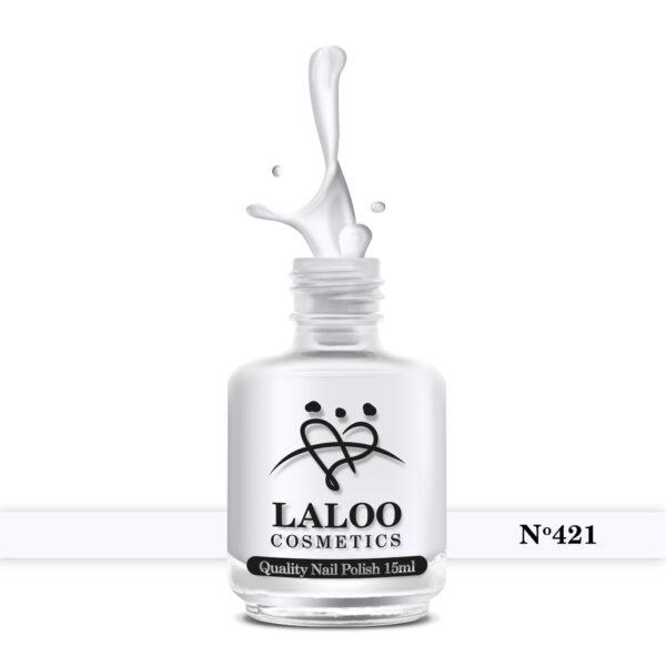 Απλό βερνίκι Laloo Cosmetics 15ml - N.421 Βάση γαλλικού του πάγου (ελαφρώς μωβίζει)