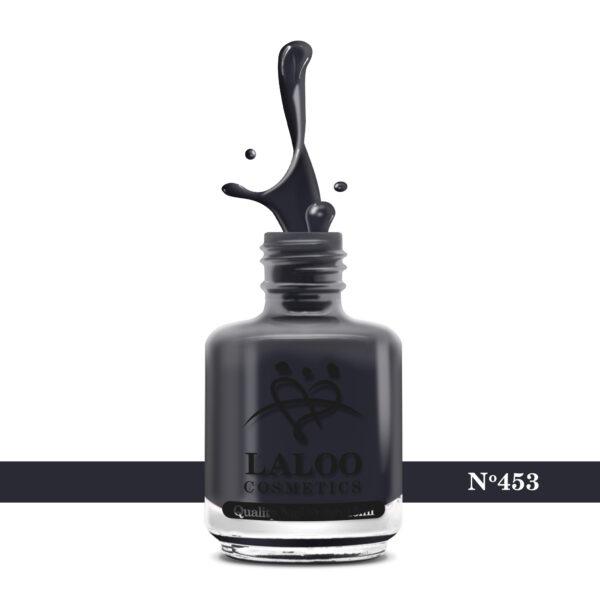 Απλό βερνίκι Laloo Cosmetics 15ml - N.453 Γκρι μπλε πολύ σκούρο