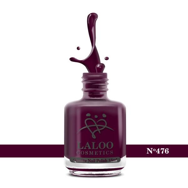 Απλό βερνίκι Laloo Cosmetics 15ml - N.476 Μπορντώ κόκκινο σκούρο   Miss Kiss