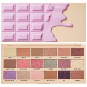 Παλέτα σκιών Revolution Cotton Candy Chocolate Eyeshadow