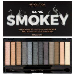 Παλέτα σκιών Revolution Iconic Smokey Palette