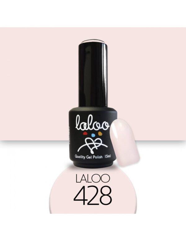 Ημιμόνιμο βερνίκι Laloo Cosmetics 15ml - N.428 Σομόν πολύ ανοιχτό
