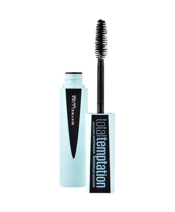 Αδιάβροχη μάσκαρα Maybelline Total Tempation Waterproof Mascara Black 8.6ml