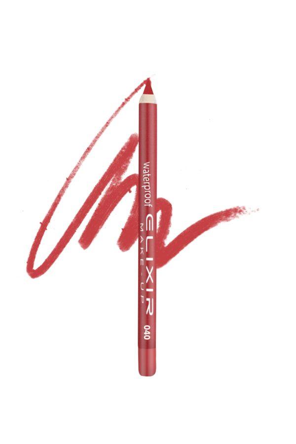 Αδιάβροχο μολύβι χειλιών Elixir 1.4g – Coral Red 040
