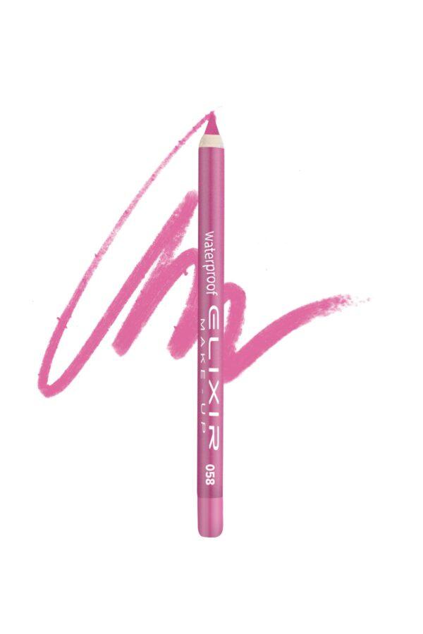 Αδιάβροχο μολύβι χειλιών Elixir 1.4g – Hot Pink 058