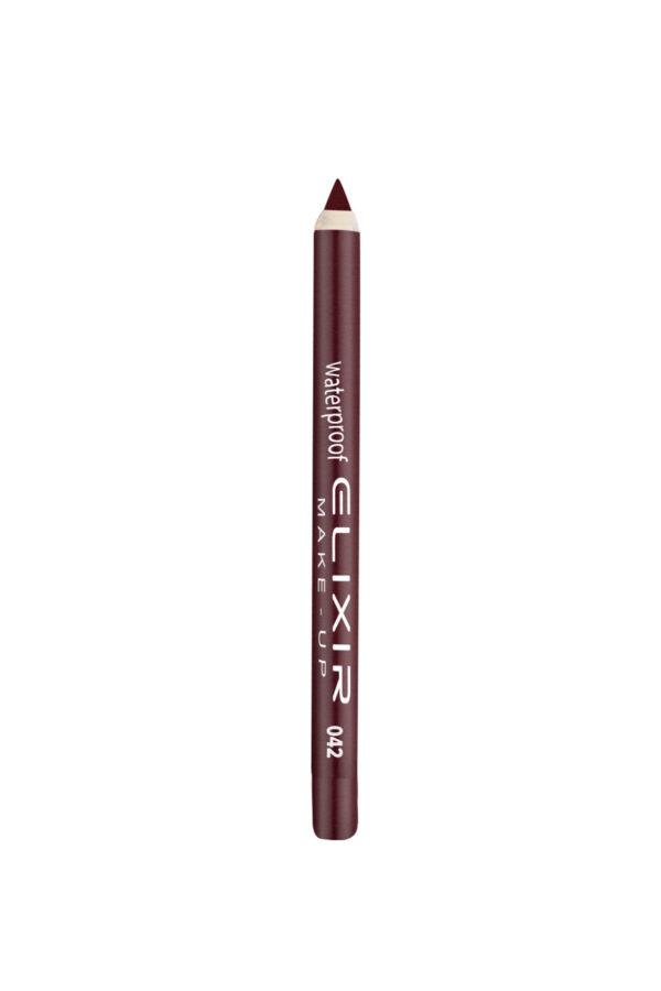 Αδιάβροχο μολύβι χειλιών Elixir 1.4g – Marron Red 042