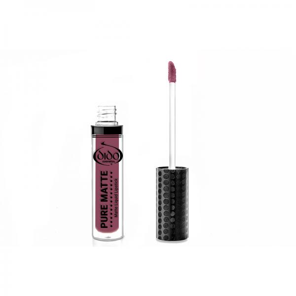 Υγρό κραγιόν Dido Cosmetics Pure Matte Liquid Lipstick No 19