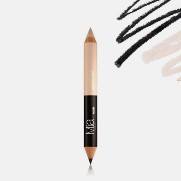 Μολύβι φρυδιών Mia Cosmetics Eyebrow Perfect Duo - Dark Tone P007