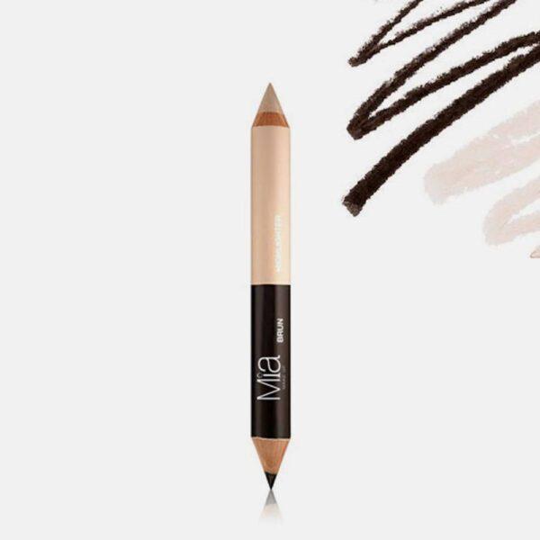 Μολύβι φρυδιών Mia Cosmetics Eyebrow Perfect Duo - Medium Tone EP006