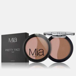 Ρουζ Mia Cosmetics Pretty Face Duo - Peach Nude FR021