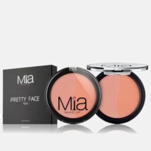 Ρουζ Mia Cosmetics Pretty Face Duo - Peach Pink Intense FR023