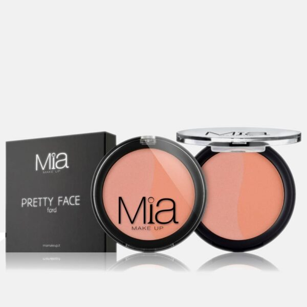 Ρουζ Mia Cosmetics Pretty Face Duo - Peach Pink Intense FR023