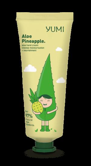 Κρέμα χεριών με αλόη Yumi Aloe Pineapple Hand Cream 75ml