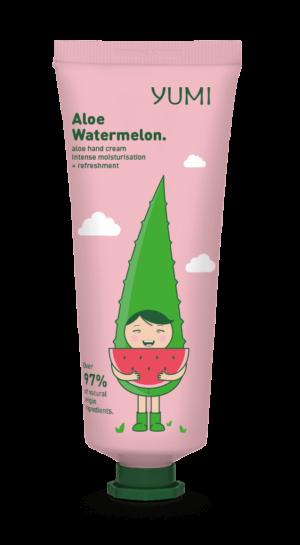 Κρέμα χεριών με αλόη Yumi Aloe Watermelon Hand Cream 75ml