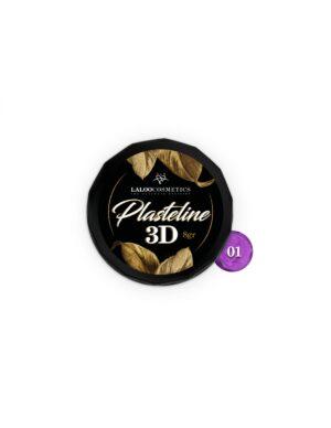 Πλαστελίνη nail art Laloo Cosmetics Plasteline 3D 8g N.01 Μωβ
