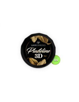 Πλαστελίνη nail art Laloo Cosmetics Plasteline 3D 8g N.04 Πράσινο νέον