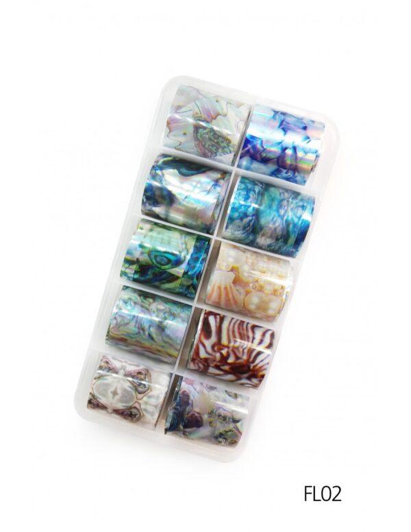 Σετ nail art Foils Set Small FL02