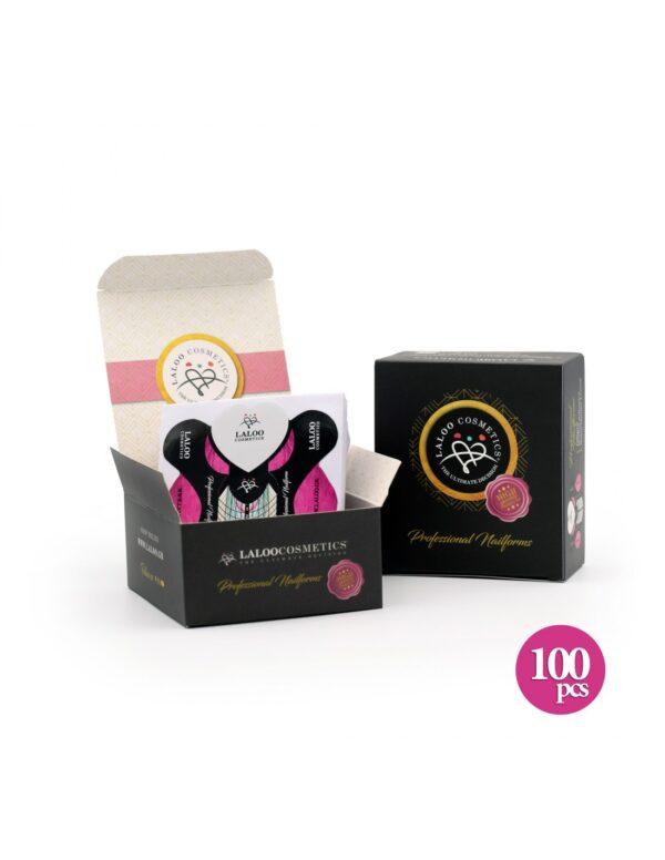 Φόρμες χτισίματος Laloo Cosmetics Nail Forms Fuchsia 100τμχ.