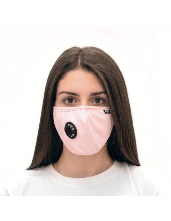 Μάσκα προστασίας FSK Μάσκα με ενεργό φίλτρο άνθρακα - Ροζ