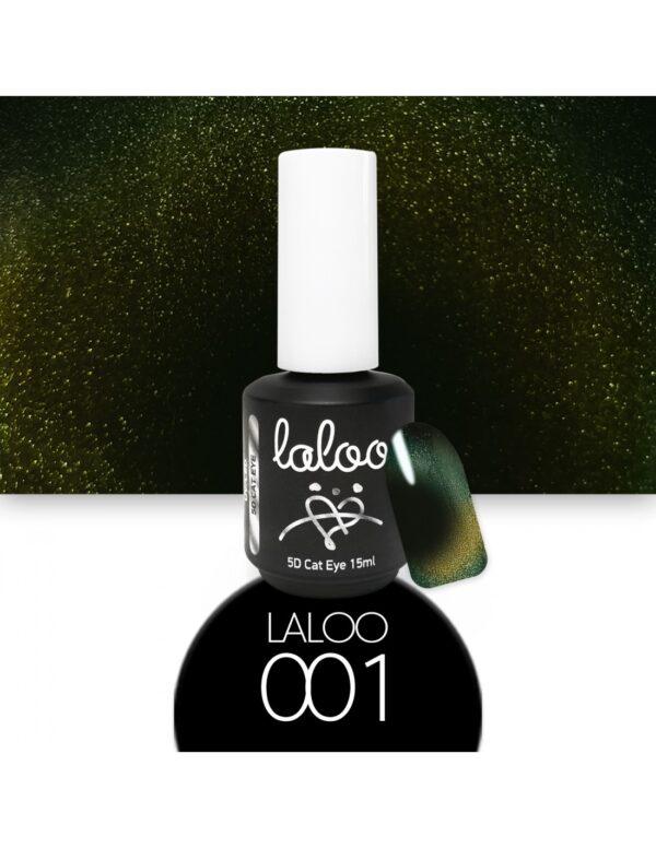 Laloo Cosmetics Cat Eye 5D 15ml N.01 Χρυσό-Πράσινο