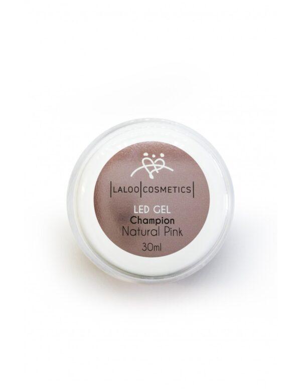 Μονοφασικό τζελ χτισίματος Laloo Cosmetics LED Gel Champion Natural Pink 30ml