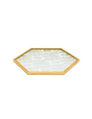 Laloo Cosmetics Nail Art Dish Hexagon Gold 01