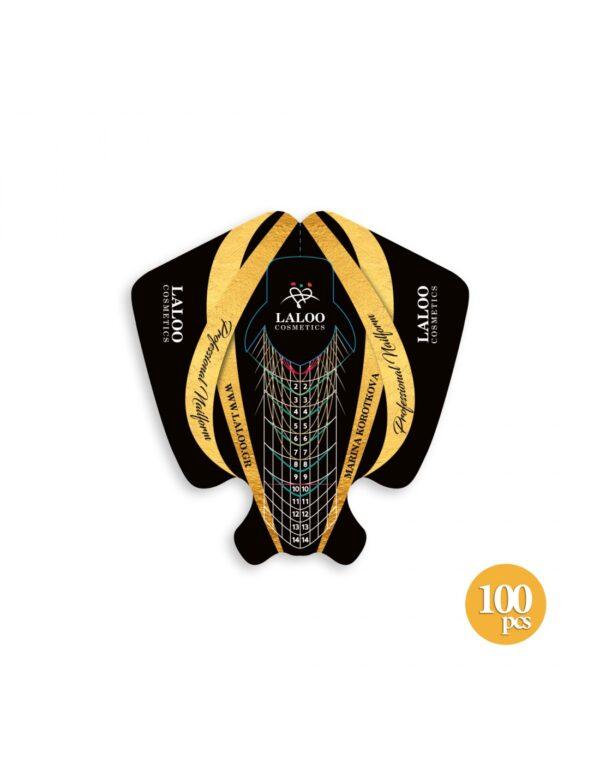Φόρμες χτισίματος Laloo Cosmetics Nail Forms Marina Korotkova 100τμχ.