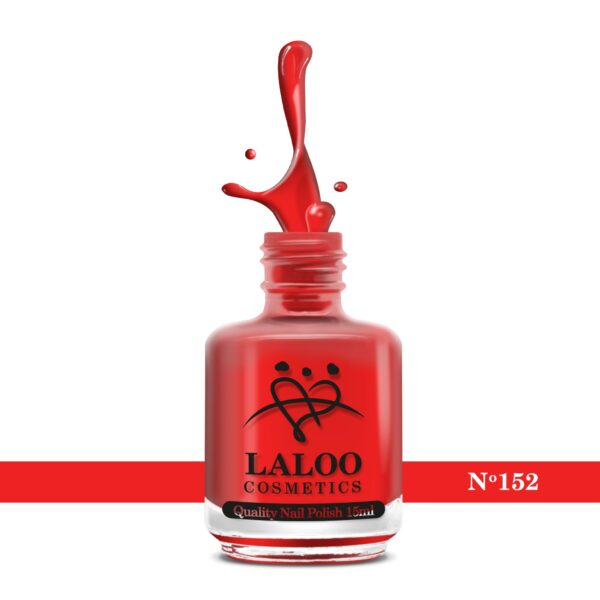 Απλό βερνίκι Laloo Cosmetics 15ml - N.152 Κοραλί-κόκκινο