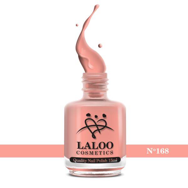 Απλό βερνίκι Laloo Cosmetics 15ml - N.168 Βερικοκί έντονο
