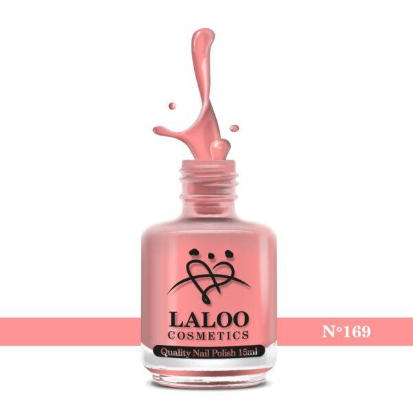 Απλό βερνίκι Laloo Cosmetics 15ml - N.169 Ροζ κοραλί έντονο νέον