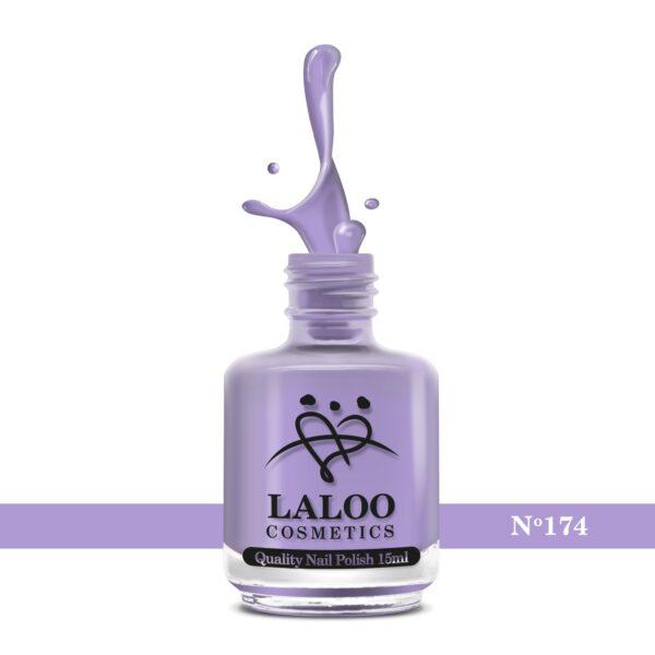 Απλό βερνίκι Laloo Cosmetics 15ml - N.174 Λιλά παστέλ ανοιχτό